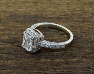Simon G 18k White Gold Micro Pave Diamond Engagement Ring Setting