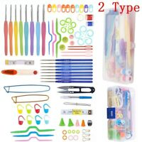Crochet Hook Set Knitting Needles Set Stainless Steel Use Sewing Tool DTY Craft