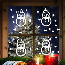 Christmas Decal Snowman and Stars Sticker Shop Front Glass Window Xmas Removable