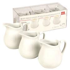 3 Piece Porcelain Set Milk Cream Gravy Sauce Condiment Cruet Salad Table Party