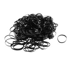 255 Pcs Black Elastic Ponytail Holders Hair Rubber Bands for Girl Lady WS X W3OQ