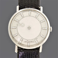 LeCoultre 14k White Gold Galaxy 37 Diamond Mystery Dial Watch Ref 615-208
