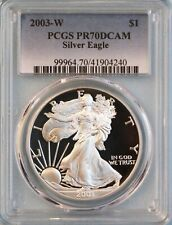 2003-W SILVER EAGLE PCGS PR70DCAM - ASE - 18TH YEAR OF ISSUE - FREE SHIPPING