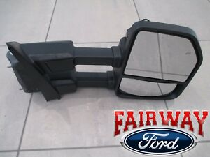 17 - 21 Super Duty F250 F350 OEM Ford Black Heat Signal Tow Mirror RH PASSENGER