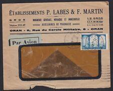 1935 ORAN ALGERIA ALGERIE AFRICA Window Faced Postal Cover Pharmacy Accessories
