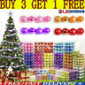 24PCS 3cm Glitter Christmas Baubles Xmas Tree Ornament Hanging Ball Decor Gift