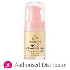 DERMACOL Gold ANTI- WRINKLE Make-Up BASE Primer Rejuvenating 15ml AUTHENTIC