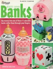 ~ ~ ~ The Needlecraft Shop ~ Banks ~ 11 Plastic Canvas Patterns ~ ~ ~