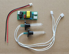 UV-C 185nm Ozone Generator U-shape 50mm x 8mm x 50mm  Dual Lamp Bulb 12V DC Kit