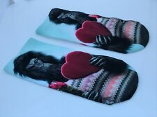 Free Press Womens Socks No Show Sublimation Low-Cut Socks Small