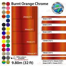 BURNT-ORANGE CHROM Zierstreifen Autoaufkleber Zierlinie Dekorstreifen 2mm-100mm