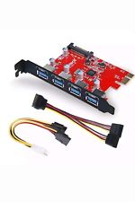 Inateck SuperSpeed 4 Ports PCI-E to USB 3.0 Expansion Card KTU3FR-4P