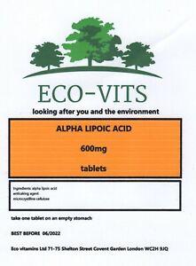 ALPHA LIPOIC ACID 600mg 120 tabs anti-oxidant Increases glucose uptake