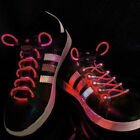 Red LED Lighted Shoe Laces + Extra Batteries- Ships FAST from USA!