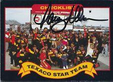 DAVEY ALLISON Signed Autographed 1992 Maxx Texaco Star Team Card, JSA
