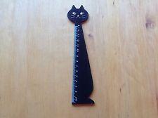 Holzlineal Schwarze Katze15cm; wooden ruler BLACK CAT, Kinder Party Geschenke