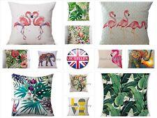 """18"""" Vintage Linen Cotton Waist Throw Pillow Case Home Sofa Decor Cushion Cover"""