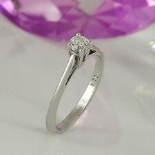 Ringe aus Weißgold mit Diamanten natürliche solitäre
