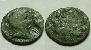 Genuine ancient GREEK Roman coin Thessalonica Macedon 50BC/50A Demeter/Moneymark