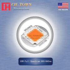 1pcs 30w Watt High Power Full Spectrum 380 840nm Smd Led Chip Blub Cob Lamp