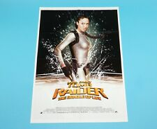 DOUBLE SIDED FOLDOUT POSTER TOMB RAIDER CRADLE OF LIFE ROBBIE WILLIAMS HITKRANT