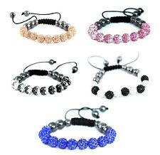 Handmade Shamballa Bracelet, hematite beauty beads, adjustable macrame, new look