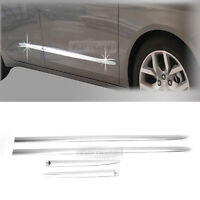 Chrome Side Skirt Door Garnish Molding trim C262 For Chevrolet 2015-2020 Impala