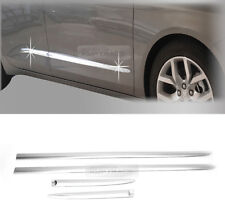 Chrome Side Skirt Door Garnish Molding trim 4P For Chevrolet 2015-2019 Impala