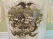 Custom Choppers West Coast East Coast Ivory Graphic Short Sleeve T-shirt Size M
