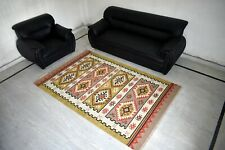 Wool Cotton Traditional Flat Weave Home Decorative 5'x8' Feet Area Rug DN-1917