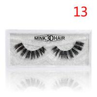 Soft Design 3D 100% Real Mink False Eyelashes Cross Messy Eye Lashes 17 Style