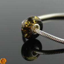 Rare Green Baltic Amber Silver Charm Trollbeads Charms Amber Bracelet Beads