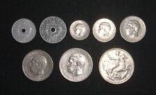 VERY RARE!!! SET OF 8 COINS - GREEK DRACHMAS 1971 - 1973 KING KONSTANTINOS B'