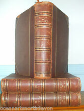 HISTORY OF ENGLAND 1886 CIVIL MILITARY & RELIGIOUS LEATHER SET OF 3 C MACFARLANE