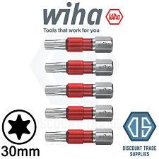 WIHA 42113 TY Bit Set TORX T30 - Pack of 5, 29mm Long Impact Driver Screw Bit