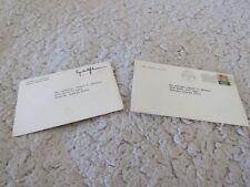 Lot 2 Lyndon B Johnson Greeting & Christmas Cards-1970 & 1968 - Lady Bird lBJ