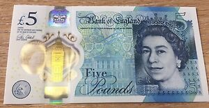 AK47 £5 FIVE POUND RARE P0LYMER NOTE AK47 MINT NO FOLDS ANY OFFER CONSIDERED