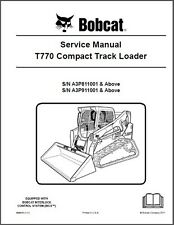 Bobcat T770 Compact Track Loader Service Manual on a CD