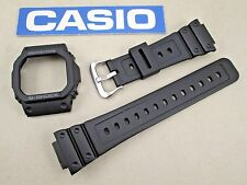 Genuine Casio G-Shock GW-M5610 black resin rubber watch band and bezel set