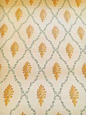 Vintage Wallpaper Trellis Shells Diamond Citrus by Motif