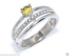 Unbehandelte Echte Edelstein-Ringe mit Opal