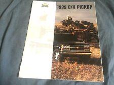 1999 Chevy Chevrolet C10 C20 C30 Silverado Pickup  Brochure Catalog  Prospekt