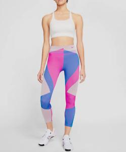 Nike Women Fire Pink Seamless 7/8 Sculpt Icon Clash Training Leggings Size M NWT