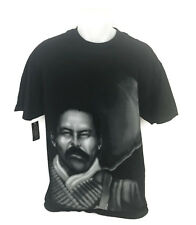 Aztlan Graphics Chico Cal Men's T-Shirt Cotton Mustache Man Bullets Size Large