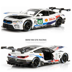 1/32 Scale BMW M8 GTE Super Car Alloy Model Car Toy Collection Sound Light