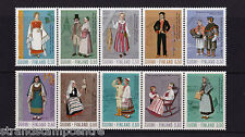 Finland - 1972 National Costumes - U/M - SG 823-32
