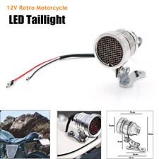 12V Retro Motorcycle Rear Taillight LED Brake Tail License Plate Integrated Lamp
