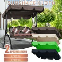Three People Outdoor Garden Swing Cover Canopy Replacement Shade Cloth