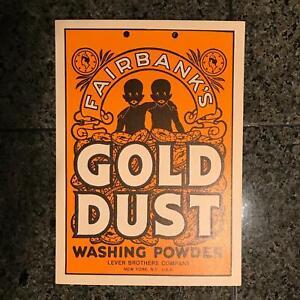 Fairbanks Gold Dust Washing Powder Sign Ad NOS Laundry Decor