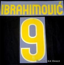 Barcelone IBRAHIMOVIC 9 2009/10 Football Shirt Name Set Home Sporting ID